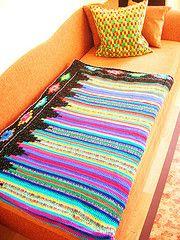 Retro Crochet Blanket
