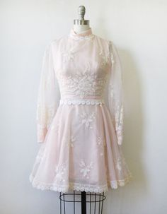 1960s pink lace dress / vintage 60s pink party by RustBeltThreads, $68.00