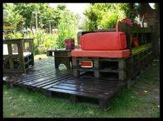 Výsledek obrázku pro záhradný nábytok z paliet
