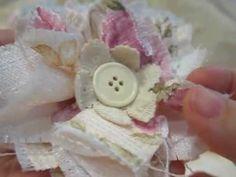 Tattered Muslin Rose Tutorial & Fabric Flowers - YouTube