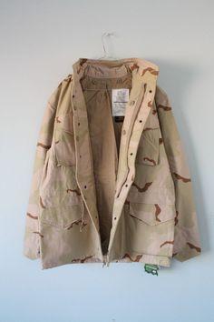 BNWT ALPHA INDUSTRIES M65 Field Jacket Desert Camo Size Large #ALPHAINDUSTRIES #Military