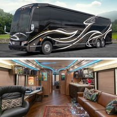A Prevost Bus conversion is the ultimate luxury motorhome. Marathon is the leader in luxury bus conversions, service and technology. Browse our inventory. Prevost Coach, Prevost Bus, Luxury Rv Living, Bus Rv Conversion, Marathon Coach, Motorhome Living, Luxury Van, Luxury Motorhomes, Rv Bus