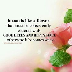 Imaan is like a flower Islamic Qoutes, Muslim Quotes, Islamic Dua, Islam Muslim, Islam Quran, Motivational Thoughts, Inspirational Quotes, Religion, Noble Quran