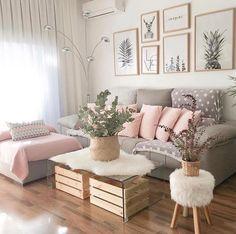 Sala com uma decor linda! Quem amou? ❤️ Fot