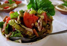 fatoush salad, Jerash, Jordan