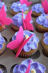 Butterfly cupcake looks like spring time