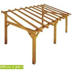Auvent bois Sherwood de jardipolys, structure bois de 5mx3m