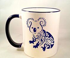Fancy Koala Bear Coffee Mug Funny Coffee Cup by NaughtyCatApparel