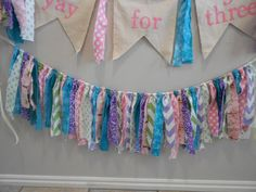 Rag Garland/ Easter/Spring Photography Backdrop/ by jppinkdaisy