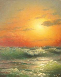 279 oceanic View at Sunset 8 x 10 Stampa di vladimirmesheryakov