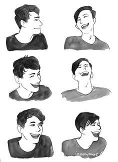 """incaseyouart: """"Laughter and friendship and oh GOD their latest DAPG video was TOO CUTE~ Reference images here Inspired by this lovely pencil sketch by Maddox~ Pre-order the limited Vicsquared Dan & Phil Phanzine """"Special"""" here!! """"twitter 