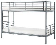 "SVARTA Bunk bed frame | IKEA beds Length: 78 "" Height: 62 5/8 "" Width: 40 1/2 "" Mattress length: 74 1/2 "" Mattress width: 38 """