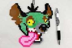 Lion King Hyena Ed Necklace Perler Bead Sprite by StreetRebirth