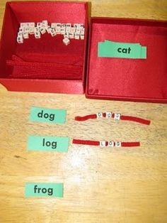 Spelling practice- beads and pipe cleaners