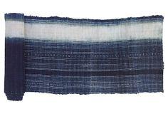 One Kings Lane - By the Yard - Indigo   Batik Linen Textile, 2.62 Yds