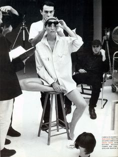"Vogue Italia May 1992 ""Basic story"" by Meisel. Model: Shana Zadrick"