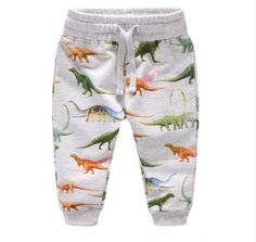 801746258 Baby Boy s Dinosaur Patterned Cotton Pants