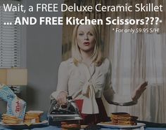 Great deal! Get a FREE Ceramic Skillet & Deluxe Kitchen Scissors for only $9.95 S/H: http://yofreesamples.com/samples-without-surveys/free-deluxe-ceramic-skillet-kitchen-scissors-just-pay-sh/