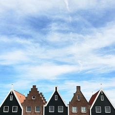 This photo was taken in Volendam Netherlands. Volendam is a fishing village with about 22000 inhabitants. Pictured here are typical houses in this town!  photo by @barkinozdemir. by ink361