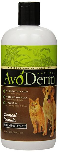 AvoDerm Natural Oatmeal Formula Shampoo for Dogs and Cats, 16 oz