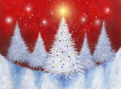 Album 2 « Gallery 18 « Christmas (by category) « Jan Pashley – Illustration / Design Christmas Tree Canvas, Holiday Canvas, Christmas Paintings On Canvas, Christmas Tree Painting, Winter Painting, Christmas Drawing, Christmas Art, Winter Christmas, Diy Painting