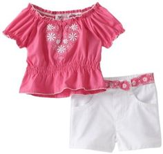 Young Hearts Baby-Girls Infant Woven Tunic With Twill Short Set --- http://bizz.mx/krw