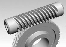 Worm gears resemble screws. A worm gear is usually meshed with a spur gear or a helical gear, which is called the gear, wheel, or worm wheel.Worm-and-gear sets are a simple and compact way to achieve a high torque, low speed gear ratio. For example, helical gears are normally limited to gear ratios