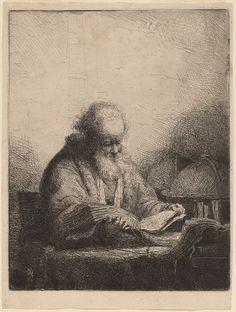 "Ferdinand Bol, ""An Old Man Reading,"" 1642"