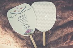 these are slightly ugly, but you get the point - 21 Unique Ceremony Ideas for Your Wedding (via Emmaline Bride) - ceremony fan by Kama Catch Me Diy Wedding, Rustic Wedding, Wedding Ceremony, Dream Wedding, Wedding Day, Wedding Stuff, Ceremony Programs, Wedding Programs, Monsoon Wedding