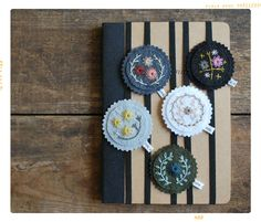 Floral Embroidery Felt Bookmarks DIY Kit by Love, Maude – Fleur + Dot