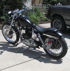 1972 Sportster XLH Ironhead Harley by Jon. (break light on side) thin bikes Ironhead Sportster, Harley Davidson Sportster, Chrome Apps, Harley Bikes, Bobber, Choppers, Sick, Motorcycles, Woodworking