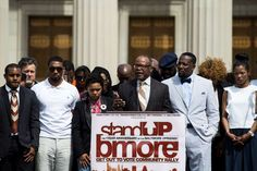 Exclusive: Fake black activist social media accounts linked to Russian government  -  September 28, 2017:     FILE: Community Leaders gather at City Hall for a rally on the one-year anniversary of the Baltimore Riots after the death of Freddie Gray in Baltimore, USA on April 25, 2016.