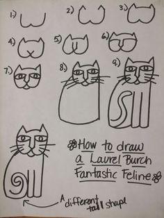 Art With Katie: Art for Kids: Laurel Burch Cats