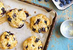 Tender scones made with fresh blueberries.