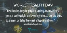 It's World Health Day! Help us and WHO spread awareness of Normal Body Weight, Trending Hashtags, World Health Day, World Health Organization, Prevent Diabetes, Physical Activities, Diet, Natural, Healthy