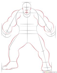 How To Draw Hulk Step By Step. Drawing Tutorials For Kids And Beginners.