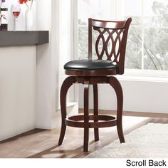 TRIBECCA HOME Verona Cherry Swivel 24-inch Counter Height Stool - Overstock™ Shopping - Great Deals on Tribecca Home Bar Stools