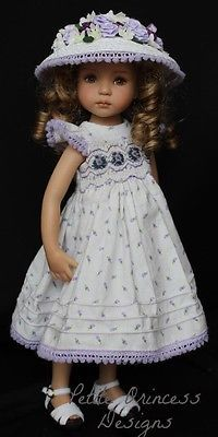"""Smocked & Embroidered Outfit for Dianna Effner's 13"""" Little Darling Dolls"""