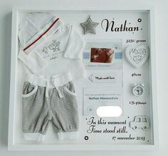geboortebord met eerste pakje ● Troetel.com