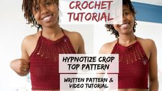 How to Crochet a Halter Top. Hypnotize Crop Top
