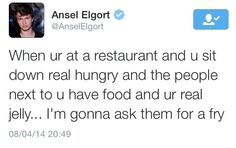 """Seriously? I'd just flat out ask them for their sandwich and be like """"I have no regrets"""""""