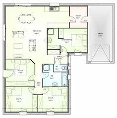Plan maison neuve à construire - Marc Junior OPEN plain pied L 106
