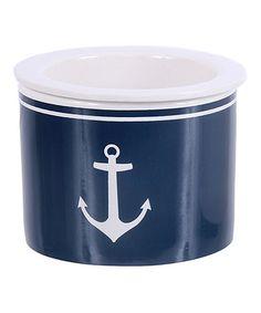 Look what I found on #zulily! Navy Anchor Dip Bowl #zulilyfinds