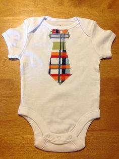 Baby Boy Plaid Tie Onesie