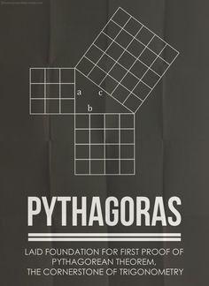 HYDROGENE — Minimal Posters - Five Great MathematiciansAnd...