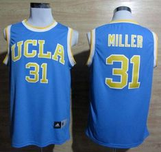 3092e85015c6 Bruins  31 Reggie Miller Blue Basketball Stitched NCAA Jersey Buy  Basketball