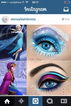 Frozen Inspired Makeup. So good!