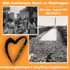 Where will you be for the 50th Anniversary of the March on Washington? #MOW2013 #UUsLivingtheDream