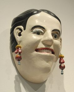 Mascara de Mujer - mask of a woman in the MAP collection in Mexico City.  Photo by Karen Elwell