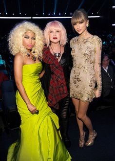 Nicki Minaj, Cyndi Lauper, Taylor Swift - what an unusual threesome